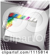 Clipart Film Frame Background With Light 2 Royalty Free Vector Illustration