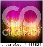 Clipart Gradient Pink And Gold Music Note Background Royalty Free Vector Illustration