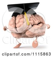 Clipart 3d Graduation Brain Walking Royalty Free CGI Illustration