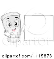Clipart Happy Chef Hat Holding A Spoon Royalty Free Vector Illustration by BNP Design Studio
