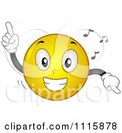 Clipart Happy Smiley Dancing To Music Royalty Free Vector Illustration