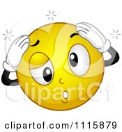 Clipart Dizzy Smiley Holding His Head Royalty Free Vector Illustration