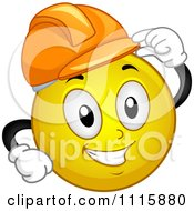 Clipart Construction Worker Smiley Tipping His Hard Hat Royalty Free Vector Illustration