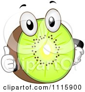 Clipart Happy Kiwi Holding A Thumb Up Royalty Free Vector Illustration