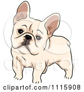 Clipart Cute French Bulldog Royalty Free Vector Illustration
