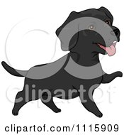 Clipart Cute Black Labrador Dog Royalty Free Vector Illustration