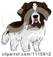 Clipart Cute St Bernard Dog Royalty Free Vector Illustration by BNP Design Studio