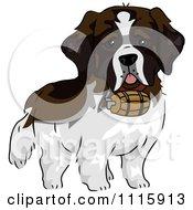 Cute St Bernard Dog With A Barrel