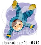 Clipart Cute Astronaut Boy Floating In Space Royalty Free Vector Illustration