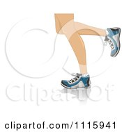 Clipart The Legs Of Running Woman Royalty Free Vector Illustration
