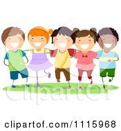 Clipart Happy Diverse Kids Smiling Royalty Free Vector Illustration