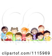 Clipart Happy Diverse Kids Laughing Under Copyspace Royalty Free Vector Illustration