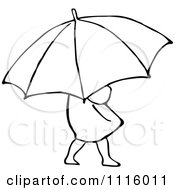 Clipart Retro Vintage Black And White Girl With An Umbrella 2 Royalty Free Vector Illustration by Prawny Vintage