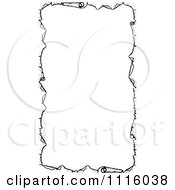 Clipart Retro Vintage Black And White Parchment Paper Border Royalty Free Vector Illustration