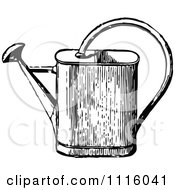 Clipart Retro Vintage Black And White Watering Can Royalty Free Vector Illustration by Prawny Vintage