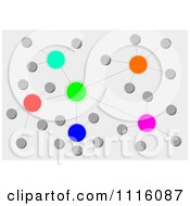 Clipart Colorful Orb Network Over Gray 2 Royalty Free Illustration