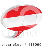 Clipart 3d Austrian Flag Chat Balloon Royalty Free Vector Illustration