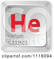 Clipart 3d Red And Silver Helium Keyboard Button Royalty Free Vector Illustration by Andrei Marincas