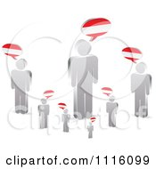 Clipart 3d Silver People With Austrian Chat Balloons Royalty Free Vector Illustration