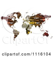 Clipart Money Word Collage Map Royalty Free Vector Illustration by Andrei Marincas