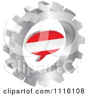 Clipart 3d Austrian Flag Chat Balloon In A Silver Gear Royalty Free Vector Illustration by Andrei Marincas