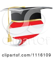 Clipart 3d Graduation Austrian Flag Chat Balloon Royalty Free Vector Illustration