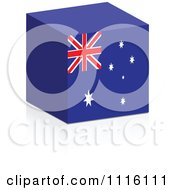 Clipart 3d Australian Flag Cube With A Reflection Royalty Free Vector Illustration by Andrei Marincas