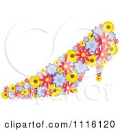 Clipart Colorful Pump Shoe Made Of Flowers Royalty Free Vector Illustration