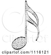 Clipart Black And White Music Note Royalty Free Vector Illustration