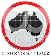 Clipart Round Australian Map Sign Royalty Free Vector Illustration by Andrei Marincas