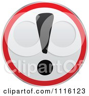 Clipart Round Exclamation Point Attention Sign Royalty Free Vector Illustration by Andrei Marincas #COLLC1116123-0167