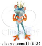 Clipart 3d Turquoise Springer Frog Prince Forming A Heart With His Hands Royalty Free CGI Illustration