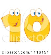 Clipart Happy Yellow Number 10 Royalty Free Vector Illustration