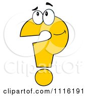 Clipart Thinking Yellow Question Mark Royalty Free Vector Illustration by Hit Toon