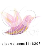 Clipart Abstract Purple Hummingbird Royalty Free Vector Illustration by elena