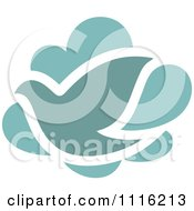 Clipart Turquoise Bird And Cloud Icon Royalty Free Vector Illustration