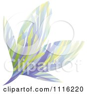 Clipart Abstract Purple Flower Royalty Free Vector Illustration
