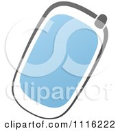 Clipart Blue And Black Cell Phone 1 Royalty Free Vector Illustration