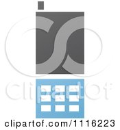 Clipart Blue And Black Cell Phone 8 Royalty Free Vector Illustration