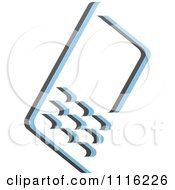 Clipart Blue And Black Cell Phone 2 Royalty Free Vector Illustration