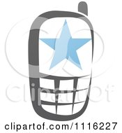 Clipart Blue And Black Cell Phone 3 Royalty Free Vector Illustration