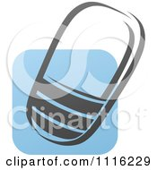 Clipart Blue And Black Cell Phone 5 Royalty Free Vector Illustration