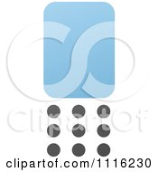 Clipart Blue And Black Cell Phone 6 Royalty Free Vector Illustration