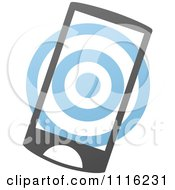 Clipart Blue And Black Touch Screen Smart Cell Phone 2 Royalty Free Vector Illustration