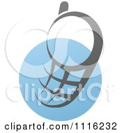 Clipart Blue And Black Cell Phone 7 Royalty Free Vector Illustration