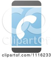 Clipart Blue And Black Touch Screen Smart Cell Phone 3 Royalty Free Vector Illustration