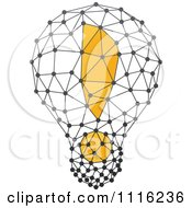 Clipart Exclamation Point Light Bulb 3 Royalty Free Vector Illustration by elena