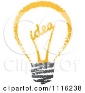 Clipart Sketched Idea Filament In A Light Bulb Royalty Free Vector Illustration