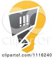 Clipart Exclamation Point Chat Window In A Light Bulb Royalty Free Vector Illustration by elena