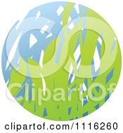 Clipart Green And Blue Natural Organic Sphere Of Grass Royalty Free Vector Illustration